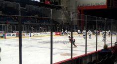 hockey game Syracuse War Memorial